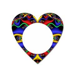 Symmetric Fractal Snake Frame Heart Magnet by Simbadda