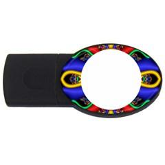 Symmetric Fractal Snake Frame Usb Flash Drive Oval (4 Gb) by Simbadda