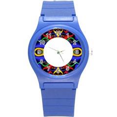 Symmetric Fractal Snake Frame Round Plastic Sport Watch (s) by Simbadda