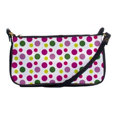 Polka Dot Purple Green Yellow Shoulder Clutch Bags by Mariart