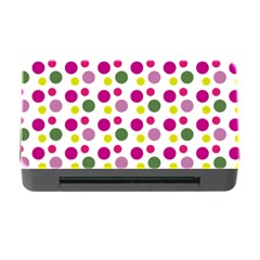 Polka Dot Purple Green Yellow Memory Card Reader With Cf by Mariart