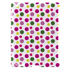Polka Dot Purple Green Yellow Apple Ipad 3/4 Hardshell Case (compatible With Smart Cover) by Mariart