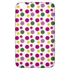 Polka Dot Purple Green Yellow Samsung Galaxy Tab 3 (8 ) T3100 Hardshell Case  by Mariart