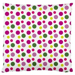 Polka Dot Purple Green Yellow Standard Flano Cushion Case (two Sides) by Mariart