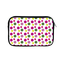 Polka Dot Purple Green Yellow Apple Macbook Pro 13  Zipper Case by Mariart