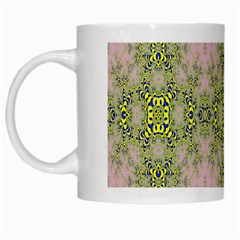 Digital Computer Graphic Seamless Wallpaper White Mugs