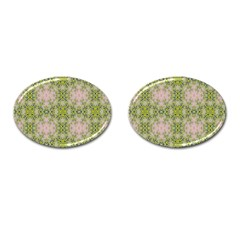 Digital Computer Graphic Seamless Wallpaper Cufflinks (oval) by Simbadda