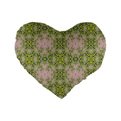 Digital Computer Graphic Seamless Wallpaper Standard 16  Premium Flano Heart Shape Cushions by Simbadda