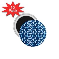 Polka Dot Blue 1 75  Magnets (10 Pack)  by Mariart