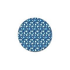 Polka Dot Blue Golf Ball Marker by Mariart