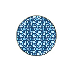 Polka Dot Blue Hat Clip Ball Marker by Mariart