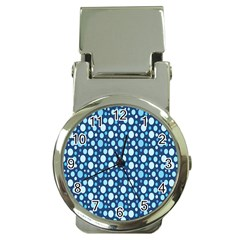 Polka Dot Blue Money Clip Watches by Mariart