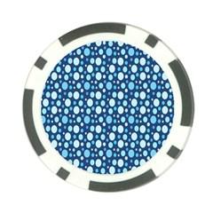 Polka Dot Blue Poker Chip Card Guard by Mariart