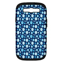 Polka Dot Blue Samsung Galaxy S Iii Hardshell Case (pc+silicone) by Mariart