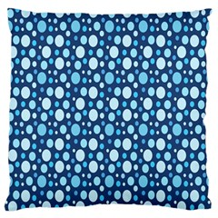 Polka Dot Blue Standard Flano Cushion Case (one Side) by Mariart