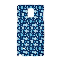 Polka Dot Blue Samsung Galaxy Note 4 Hardshell Case by Mariart