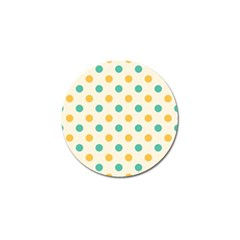 Polka Dot Yellow Green Blue Golf Ball Marker (4 Pack) by Mariart