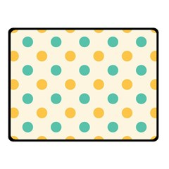 Polka Dot Yellow Green Blue Fleece Blanket (small) by Mariart
