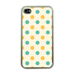 Polka Dot Yellow Green Blue Apple Iphone 4 Case (clear) by Mariart