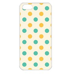 Polka Dot Yellow Green Blue Apple Iphone 5 Seamless Case (white) by Mariart
