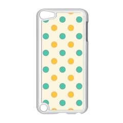 Polka Dot Yellow Green Blue Apple Ipod Touch 5 Case (white) by Mariart