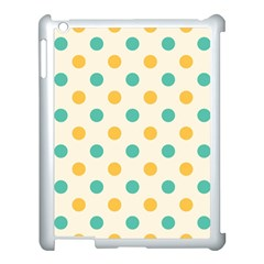 Polka Dot Yellow Green Blue Apple Ipad 3/4 Case (white) by Mariart