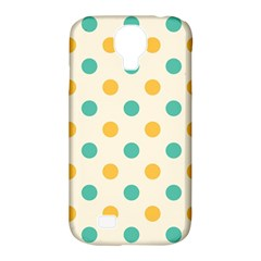 Polka Dot Yellow Green Blue Samsung Galaxy S4 Classic Hardshell Case (pc+silicone) by Mariart