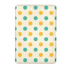 Polka Dot Yellow Green Blue Samsung Galaxy Tab 2 (10 1 ) P5100 Hardshell Case  by Mariart