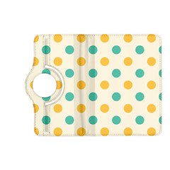 Polka Dot Yellow Green Blue Kindle Fire Hd (2013) Flip 360 Case by Mariart