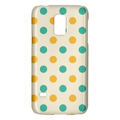 Polka Dot Yellow Green Blue Galaxy S5 Mini by Mariart