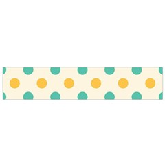 Polka Dot Yellow Green Blue Flano Scarf (small) by Mariart