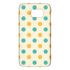 Polka Dot Yellow Green Blue Galaxy S6 by Mariart