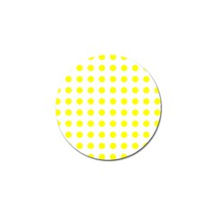 Polka Dot Yellow White Golf Ball Marker (10 Pack) by Mariart