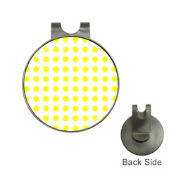 Polka Dot Yellow White Hat Clips With Golf Markers by Mariart