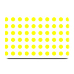 Polka Dot Yellow White Plate Mats by Mariart