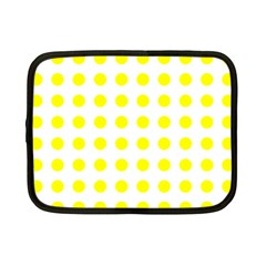 Polka Dot Yellow White Netbook Case (small)  by Mariart