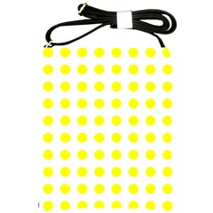Polka Dot Yellow White Shoulder Sling Bags by Mariart