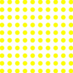Polka Dot Yellow White Magic Photo Cubes by Mariart
