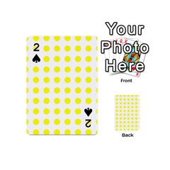 Polka Dot Yellow White Playing Cards 54 (mini)  by Mariart