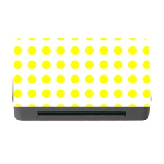 Polka Dot Yellow White Memory Card Reader With Cf by Mariart