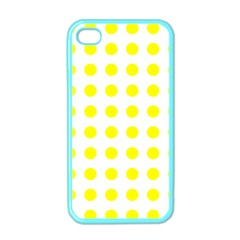 Polka Dot Yellow White Apple Iphone 4 Case (color) by Mariart