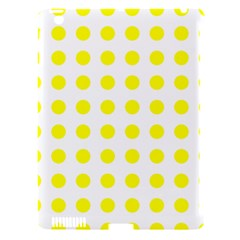 Polka Dot Yellow White Apple Ipad 3/4 Hardshell Case (compatible With Smart Cover) by Mariart