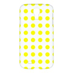 Polka Dot Yellow White Samsung Galaxy S4 I9500/i9505 Hardshell Case by Mariart