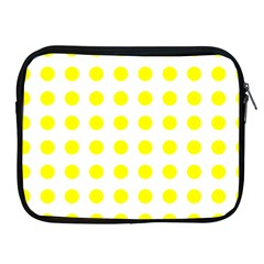 Polka Dot Yellow White Apple Ipad 2/3/4 Zipper Cases by Mariart