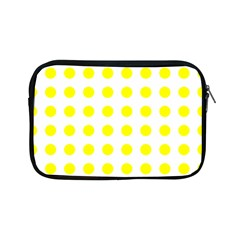 Polka Dot Yellow White Apple Ipad Mini Zipper Cases by Mariart