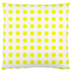 Polka Dot Yellow White Standard Flano Cushion Case (two Sides) by Mariart