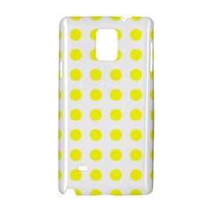 Polka Dot Yellow White Samsung Galaxy Note 4 Hardshell Case by Mariart