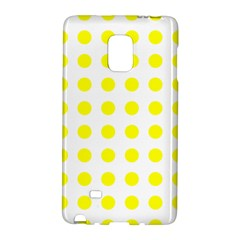 Polka Dot Yellow White Galaxy Note Edge by Mariart