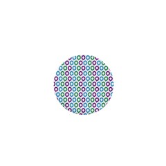 Polka Dot Like Circle Purple Blue Green 1  Mini Magnets by Mariart