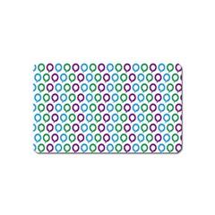 Polka Dot Like Circle Purple Blue Green Magnet (name Card) by Mariart
